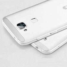 Custodia Silicone Trasparente Ultra Sottile Morbida per Huawei G8 Bianco