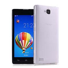 Custodia Silicone Trasparente Ultra Sottile Morbida per Huawei Honor 3C Chiaro