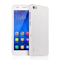 Custodia Silicone Trasparente Ultra Sottile Morbida per Huawei Honor 6 Chiaro