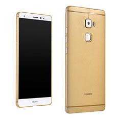 Custodia Silicone Trasparente Ultra Sottile Morbida per Huawei Mate S Oro
