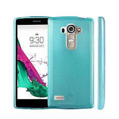 Custodia Silicone Trasparente Ultra Sottile Morbida per LG G4 Beat Cielo Blu
