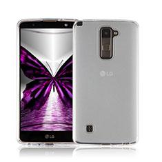 Custodia Silicone Trasparente Ultra Sottile Morbida per LG Stylus 2 Plus Bianco