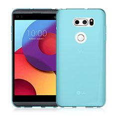 Custodia Silicone Trasparente Ultra Sottile Morbida per LG V30 Blu
