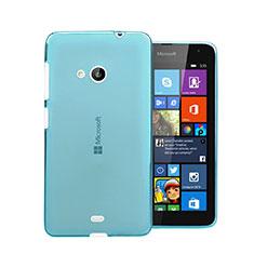 Custodia Silicone Trasparente Ultra Sottile Morbida per Microsoft Lumia 535 Blu