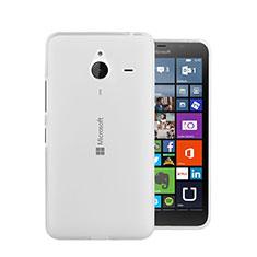 Custodia Silicone Trasparente Ultra Sottile Morbida per Microsoft Lumia 640 XL Lte Bianco