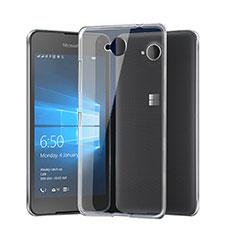 Custodia Silicone Trasparente Ultra Sottile Morbida per Microsoft Lumia 650 Chiaro