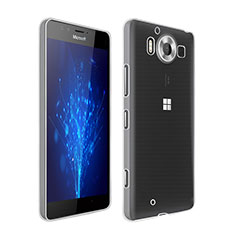 Custodia Silicone Trasparente Ultra Sottile Morbida per Microsoft Lumia 950 Chiaro