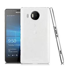 Custodia Silicone Trasparente Ultra Sottile Morbida per Microsoft Lumia 950 XL Chiaro