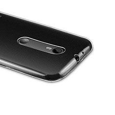 Custodia Silicone Trasparente Ultra Sottile Morbida per Motorola Moto G (3rd Gen) Chiaro
