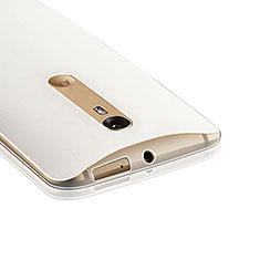 Custodia Silicone Trasparente Ultra Sottile Morbida per Motorola Moto X Style Chiaro