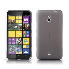 Custodia Silicone Trasparente Ultra Sottile Morbida per Nokia Lumia 1320 Grigio