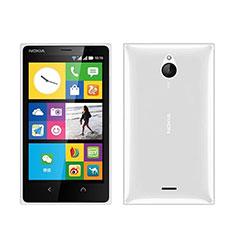 Custodia Silicone Trasparente Ultra Sottile Morbida per Nokia X2 Dual Sim Bianco