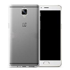 Custodia Silicone Trasparente Ultra Sottile Morbida per OnePlus 3 Chiaro