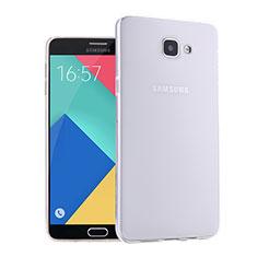 Custodia Silicone Trasparente Ultra Sottile Morbida per Samsung Galaxy A9 Pro (2016) SM-A9100 Bianco