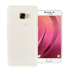 Custodia Silicone Trasparente Ultra Sottile Morbida per Samsung Galaxy C7 SM-C7000 Bianco