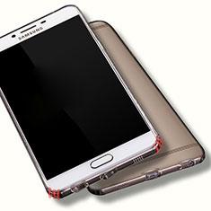 Custodia Silicone Trasparente Ultra Sottile Morbida per Samsung Galaxy C9 Pro C9000 Chiaro