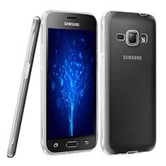 Custodia Silicone Trasparente Ultra Sottile Morbida per Samsung Galaxy J1 (2016) J120F Chiaro