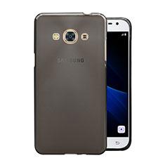 Custodia Silicone Trasparente Ultra Sottile Morbida per Samsung Galaxy J3 Pro (2016) J3110 Grigio