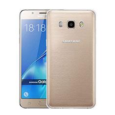Custodia Silicone Trasparente Ultra Sottile Morbida per Samsung Galaxy J5 Duos (2016) Chiaro