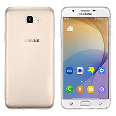 Custodia Silicone Trasparente Ultra Sottile Morbida per Samsung Galaxy J5 Prime G570F Chiaro