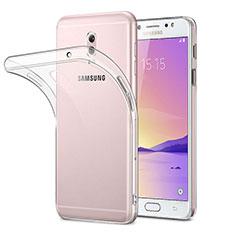 Custodia Silicone Trasparente Ultra Sottile Morbida per Samsung Galaxy J7 Plus Chiaro