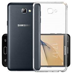 Custodia Silicone Trasparente Ultra Sottile Morbida per Samsung Galaxy J7 Prime Chiaro