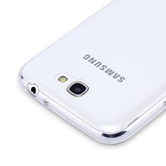 Custodia Silicone Trasparente Ultra Sottile Morbida per Samsung Galaxy Note 2 N7100 N7105 Chiaro