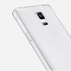 Custodia Silicone Trasparente Ultra Sottile Morbida per Samsung Galaxy Note 4 Duos N9100 Dual SIM Chiaro