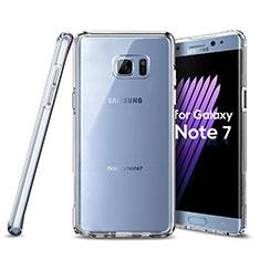 Custodia Silicone Trasparente Ultra Sottile Morbida per Samsung Galaxy Note 7 Chiaro