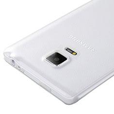 Custodia Silicone Trasparente Ultra Sottile Morbida per Samsung Galaxy Note Edge SM-N915F Chiaro