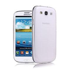 Custodia Silicone Trasparente Ultra Sottile Morbida per Samsung Galaxy S3 III LTE 4G Bianco