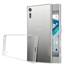 Custodia Silicone Trasparente Ultra Sottile Morbida per Sony Xperia XZ Chiaro