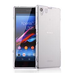 Custodia Silicone Trasparente Ultra Sottile Morbida per Sony Xperia Z1 L39h Chiaro