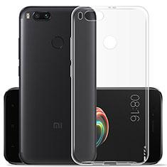 Custodia Silicone Trasparente Ultra Sottile Morbida per Xiaomi Mi A1 Chiaro