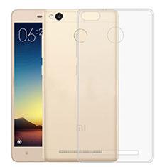 Custodia Silicone Trasparente Ultra Sottile Morbida per Xiaomi Redmi 3S Prime Chiaro