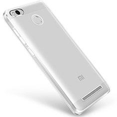 Custodia Silicone Trasparente Ultra Sottile Morbida Q01 per Xiaomi Redmi 3 High Edition Chiaro