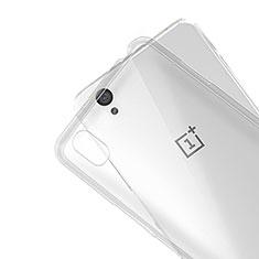 Custodia Silicone Trasparente Ultra Sottile Morbida R01 per OnePlus X Chiaro