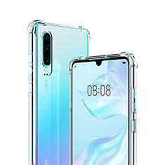 Custodia Silicone Trasparente Ultra Sottile Morbida S03 per Huawei P30 Chiaro