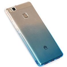 Custodia Silicone Trasparente Ultra Sottile Morbida Sfumato G01 per Huawei G9 Lite Blu