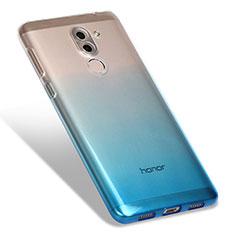 Custodia Silicone Trasparente Ultra Sottile Morbida Sfumato G01 per Huawei Honor 6X Blu