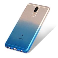 Custodia Silicone Trasparente Ultra Sottile Morbida Sfumato G01 per Huawei Mate 10 Lite Blu