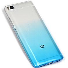 Custodia Silicone Trasparente Ultra Sottile Morbida Sfumato G01 per Xiaomi Mi 5S Blu