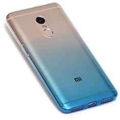 Custodia Silicone Trasparente Ultra Sottile Morbida Sfumato G01 per Xiaomi Redmi Note 4X High Edition Blu