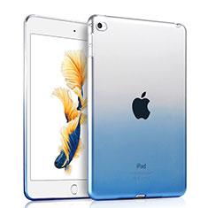 Custodia Silicone Trasparente Ultra Sottile Morbida Sfumato per Apple iPad Air 2 Blu