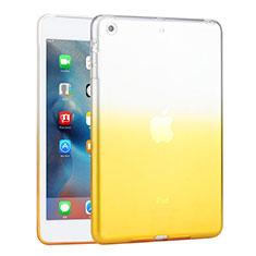 Custodia Silicone Trasparente Ultra Sottile Morbida Sfumato per Apple iPad Mini 2 Giallo