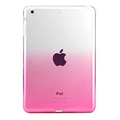 Custodia Silicone Trasparente Ultra Sottile Morbida Sfumato per Apple iPad Mini Rosa