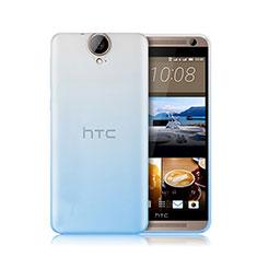 Custodia Silicone Trasparente Ultra Sottile Morbida Sfumato per HTC One E9 Plus Blu