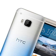 Custodia Silicone Trasparente Ultra Sottile Morbida Sfumato per HTC One M9 Blu
