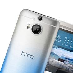 Custodia Silicone Trasparente Ultra Sottile Morbida Sfumato per HTC One M9 Plus Blu