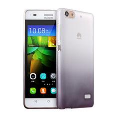 Custodia Silicone Trasparente Ultra Sottile Morbida Sfumato per Huawei G Play Mini Grigio
